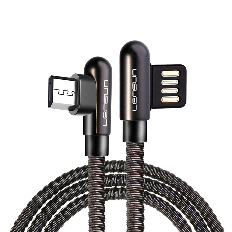 Lensun Metal USB Cable For Micro - Space Gray