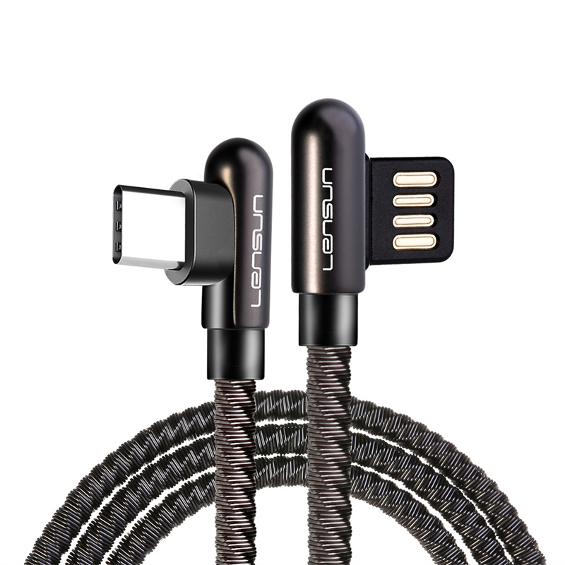 Lensun Metal USB Cable For Type C - Space Gray