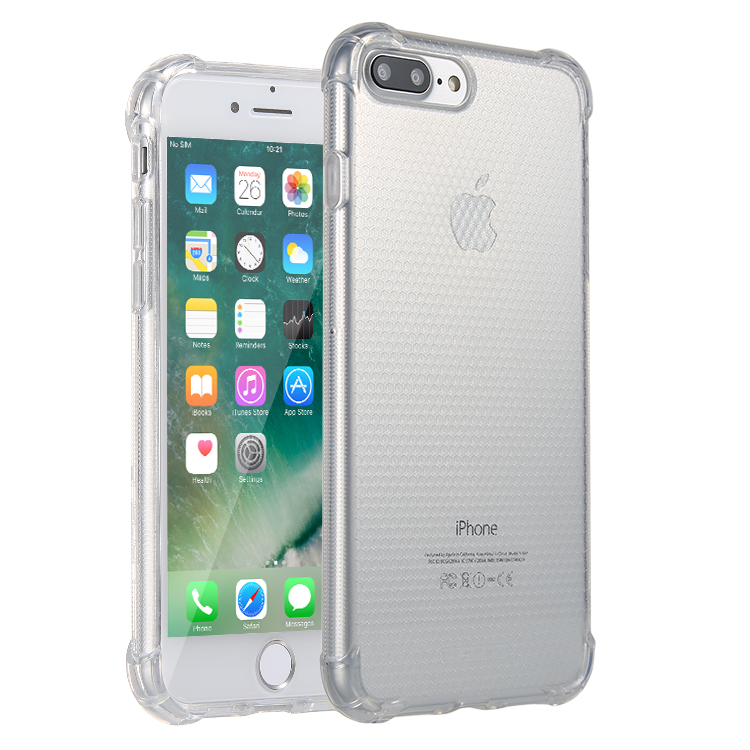 Anti-Shock Lensun Case Cover For iPhone 7 Plus - Clear