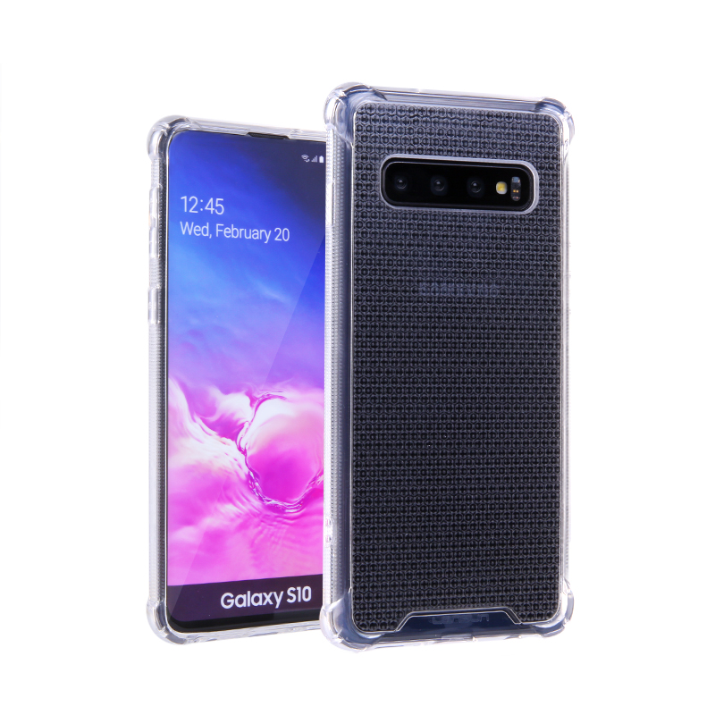 Anti-Shock Lensun Case Cover For Samsung Galaxy S10 - Clear